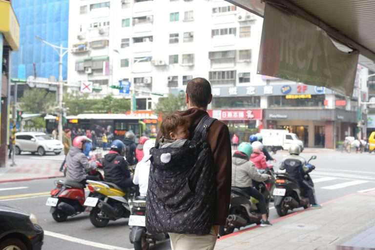 Walking in Taipei with a Baby